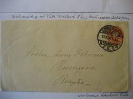 Dänemark 1900- Ganzsache Gelaufen Von Kopenhagen Nach Ringsted - Cartas