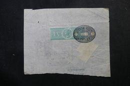 INDE - Timbre Fical Type Victoria Sur Demi Connaissement En 1908 + Fiscal Français - L 63186 - India (...-1947)