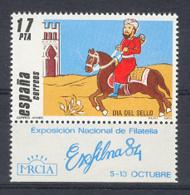 Spain 1984 - Dia Del Sello Ed 2774 Etiq (**) - 1981-90 Ongebruikt