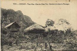 ANNAM  Than Hoa Chez Les Chan Tay Greniers à Riz Dans La Montagne RV - Viêt-Nam