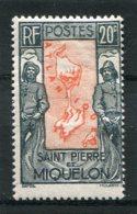SAINT-PIERRE ET MIQUELON  N°  142 *  (Y&T)   (Charnière) - Ungebraucht