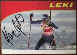 AK Biathlon Kaisa Mäkäräinen Makarainen Original Autograph Card Autogramm - Sports D'hiver