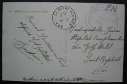 1941 Centre D'hébergement Des Sablettes, Cad La Seyne Sur Mer, Sur Carte De Fabregas (var) - Postmark Collection (Covers)
