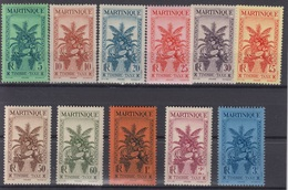 MARTINIQUE : SERIE TIMBRE TAXE N° 12/22 NEUVE * GOMME AVEC CHARNIERE - Martinique (1886-1947)