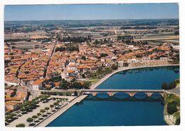 31 Cazères Sur Garonne Vers Muret En 1982 N°1 Vu Du Ciel Beau Pont - Muret