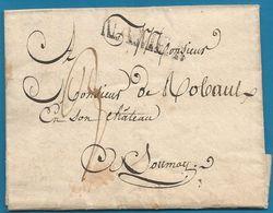 (T-011) Belgique - Précurseur - LAC Du 5/01/1823 De FLOREFFE (NAMEN En Noir) Vers Soumoy - 1815-1830 (Holländische Periode)