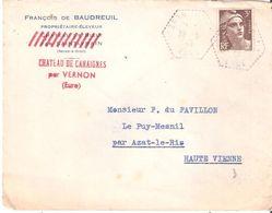 EURE :- VERNON C.P.N°2 ( CHATEAU DE CAHAIGNES) Dateur Type G4 Frappe Faible - 1921-1960: Periodo Moderno