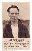 Orig. Knipsel Coupure Magazine Tijdschrift - Sport Voetbal Speler Berchem Sport - Edward Goddere - 1931 - Unclassified