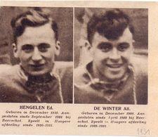 Orig. Knipsel Coupure Magazine Tijdschrift - Sport Voetbal Spelers Beerschot - Hengelen & De Winter  - 1931 - Unclassified