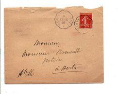 AMBULANT DE MERREY A LANGRES 1908 - Marcophilie (Lettres)