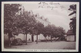 Alvignac 1944 (lot) Hôpital Complémentaire, Annexe De L'hôtel Lescure, Carte Pour Villeneuve Sur Lot (Lot Et Garonne) - Marcophilie (Lettres)