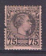 MONACO ( POSTE ) Y&T N°  8  TIMBRE  BIEN  OBLITERE ,  DEFECTUEUX , A  VOIR . C R - Monaco