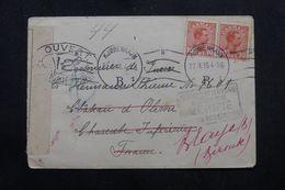 DANEMARK - Enveloppe De Copenhague Pour Un Prisonnier De Guerre En France En 1916 Avec Contrôle Postal - L 63209 - 1913-47 (Christian X)