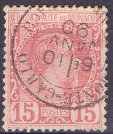 MONACO ( POSTE ) Y&T N°  5  TIMBRE  BIEN  OBLITERE , A  VOIR . C R - Monaco