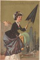 """PARIS, 13 Av. De L'Opéra : Image Pub. Pour Le """"Vélox"""" Parapluie Se Fermant Seul.(information Sur Son Origine Intéressant - Advertising"""