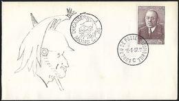 1957 - BELGIË/BELGIQUE/BELGIEN - Cover + Michel 1046 - Y&T 997 + MONS - Belgium