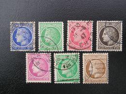 674-675-676-677-679-680-681 Lot De7 Oblitérés - 1945-47 Cérès De Mazelin
