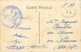 Cpa Cachet Centre D' Organisation Automobile N° 2 Parcs De Départ FM 1940 Sur Cpa Humour Au Cinéma - Marcophilie (Lettres)