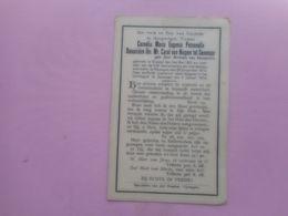 D.P.-ADEL -CORNELIA M.E.P.DOUAIRIERE VAN NISPEN Tot SEVENAAR°BRUSSEL 3-5-1827+NIJMEGEN 2-1-1913 - Religion & Esotérisme
