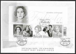 België 2015 Belgique - BL223 FDC - Herdenking H.M. Koningin Fabiola - Emission Souvenir De S.M. La Reine Fabiola. - 2011-...