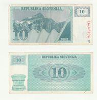 Banconota ORIGINALE REPUBLIKA SLONENIJA - 10 DESET (TALLERO) SLOVENIA - - Slovénie