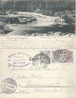 """AK  """"Gruss Aus Dem Riesengebirge - Weisswassergrund""""  Spindelmühle         1902 - 1850-1918 Empire"""