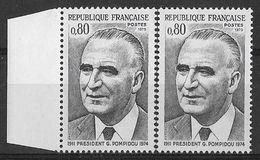 France 1975 - Variété - Président Georges Pompidou  - Y&T N° 1839 ** Neufs Luxe (gomme Tropicale Mate) - Variedades Y Curiosidades
