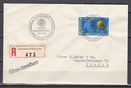 Soccer / Football / Fussball - WM 1954:  Schweiz  E-Brief, Used - (Eröffnungsspiel) - 1954 – Svizzera