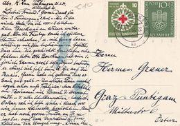 BUND  1954 CARTE DE TÜBINGEN - Cartas