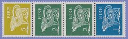 EIRE IRELAND 1977 DEFINITIVE COIL STRIP SYMBOLIC DOGS  VALUES 5 2 2 1  HIBERNIAN CAT. CS4  U.M. - 1949-... Republik Irland