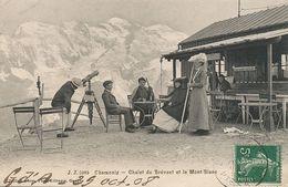Alpinisme Chalet Du Brévent Et Le Mont Blanc JJ Chamonix . Longue Vue . Optique - Alpinisme