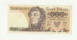 Banconota Non Circolata 500 NARODOWY BANK POLSKI - TADEUSZ KOSCIUSZKO - POLONIA - Pologne