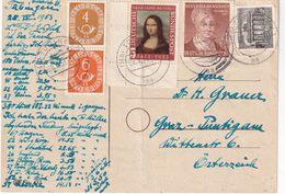BUND 1953 CARTE DE TÜBINGEN - Cartas