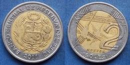 PERU - 2 Nuevos Soles 2011 KM# 343 Monetary Reform (1991) - Edelweiss Coins - Peru