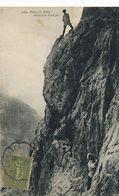 Alpinisme  Alpes Ascension D Un Pic . Cachet Train Semeuse Lignée Chateauroux à Vierzon Convoyeur - Alpinisme