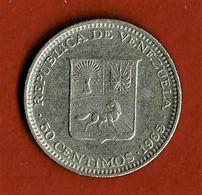 VENEZUELA / CINQUANTE CENTIMOS / BOLIVAR LIBERTADOR / 1995 - Venezuela