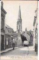Cpa Vendôme - La Rue Des Béguines Et L'Eglise De La Madeleine , Commençée En 1471. - Vendome