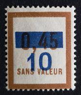 France Fictif N° F65 N** Luxe Gomme D'origine, (petit Pli), TB. Cote 2020 : 3 €. Voir Photos Recto Verso ! - Fictifs