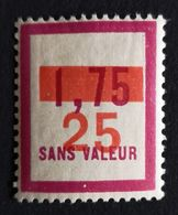 France Fictif N° F66 N* Gomme D'origine, TTB. Cote 2020 : 2,40 €. Voir Photos Recto Verso ! - Fictifs