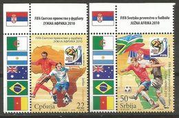 Serbia,World Cup-South Africa '10 2010.,rand-upper Left,MNH - Serbien