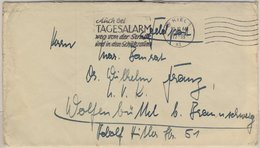 "DR - (24) Kiel 30.10.44, ""Auch Bei Tagesalarm..."", Serienstpl. A. Feldpostbrief - Alemania"