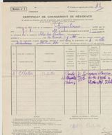 Certificat De Changement De Résidence D'un Citoyen Né à Sao Paolo(Brésil) De La Commune D'Erquelinnes > Solre-S-Sambre - 1929-1937 Lion Héraldique