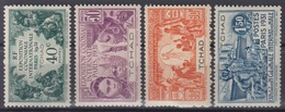 TCHAD : SERIE EXPOSITION 1931 N° 56/59 NEUVE * GOMME AVEC CHARNIERE - Unused Stamps