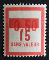 France Fictif N° F71 N** Luxe Gomme D'origine, TTB. Cote 2020 : 3 €. Voir Photos Recto Verso - Fictifs