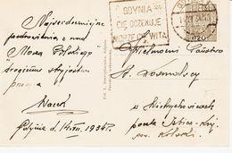 POlogne, De Gdynia  En 1934: La Ville Vous Attend , La Mer Vous Accueille TB - 1919-1939 République