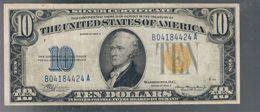 Occupazione Americana Della Sicilia Usa 10 $ Dollari 1934 A Bollino Giallo Bb+  LOTTO 3279 - [ 1] …-1946 : Royaume