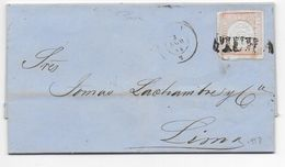 1864 - PEROU - LETTRE De PIURA Avec MARQUE LINEAIRE ! => LIMA - Peru