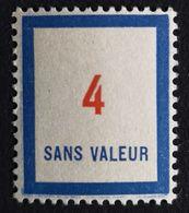France Fictif N° F81 N** Luxe Gomme D'origine, TTB. Cote 2020 : 4 €. Voir Photos Recto Verso - Fictifs
