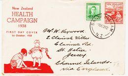 Nouvelle Zelande, En 1938 De Sandringham  Campagne Pour La Santé TB - 1907-1947 Dominion