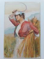 Carte Postale Région D'Italie Calabria B Cascella Casa Del Pane S M La Regina Madre 1907 - Italie